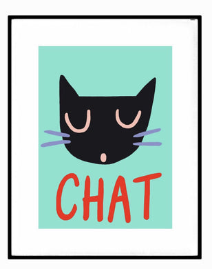Wolfnoodle 'Chat' Print