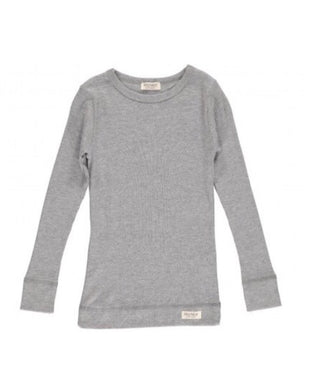 MarMar Copenhagen Long Sleeved Grey Ribbed Top