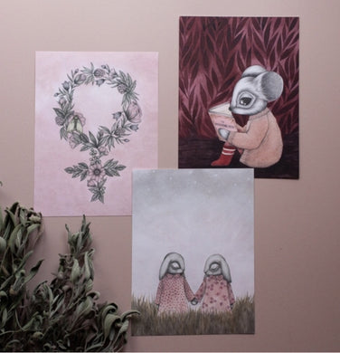 Sisterhood set of three small prints