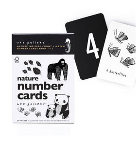 Wee Gallery Monochrome Nature/ Number Cards