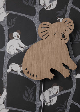 Ferm Living Smoked Oak Koala Lamp NEW 2019