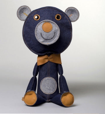 Acne Jr Chester Teddy Bear in Denim