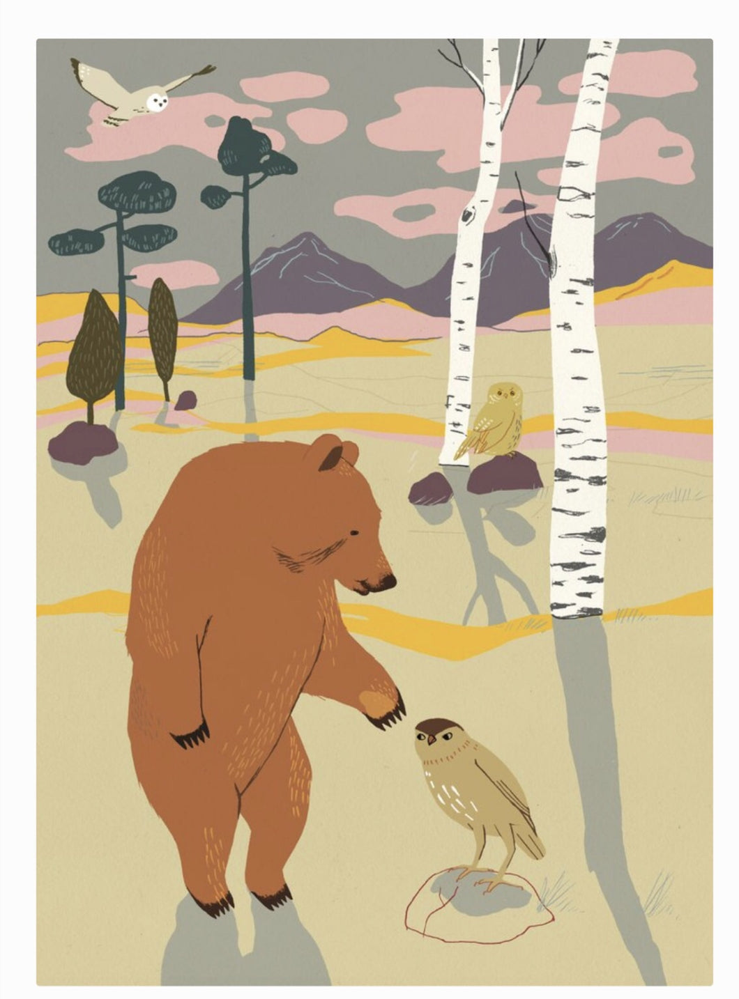 Forest Poster - Bear by Studio Morran