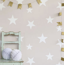 Hibou Home Stars Wallpaper in Blue or Blush