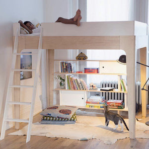 Oeuf NYC loft perch bed with ladder