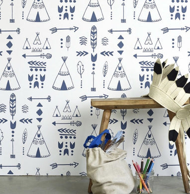 Hibou Home Tepees Wallpaper