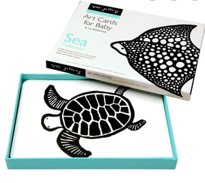 Sea Monochrome Art Cards Baby