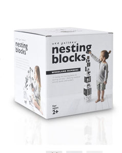 Woodland Nesting Blocks numbers and animals