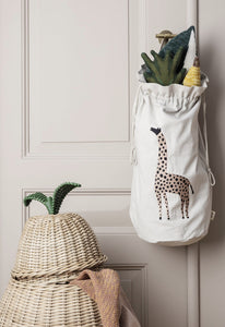 Ferm Living Safari Giraffe storage bag