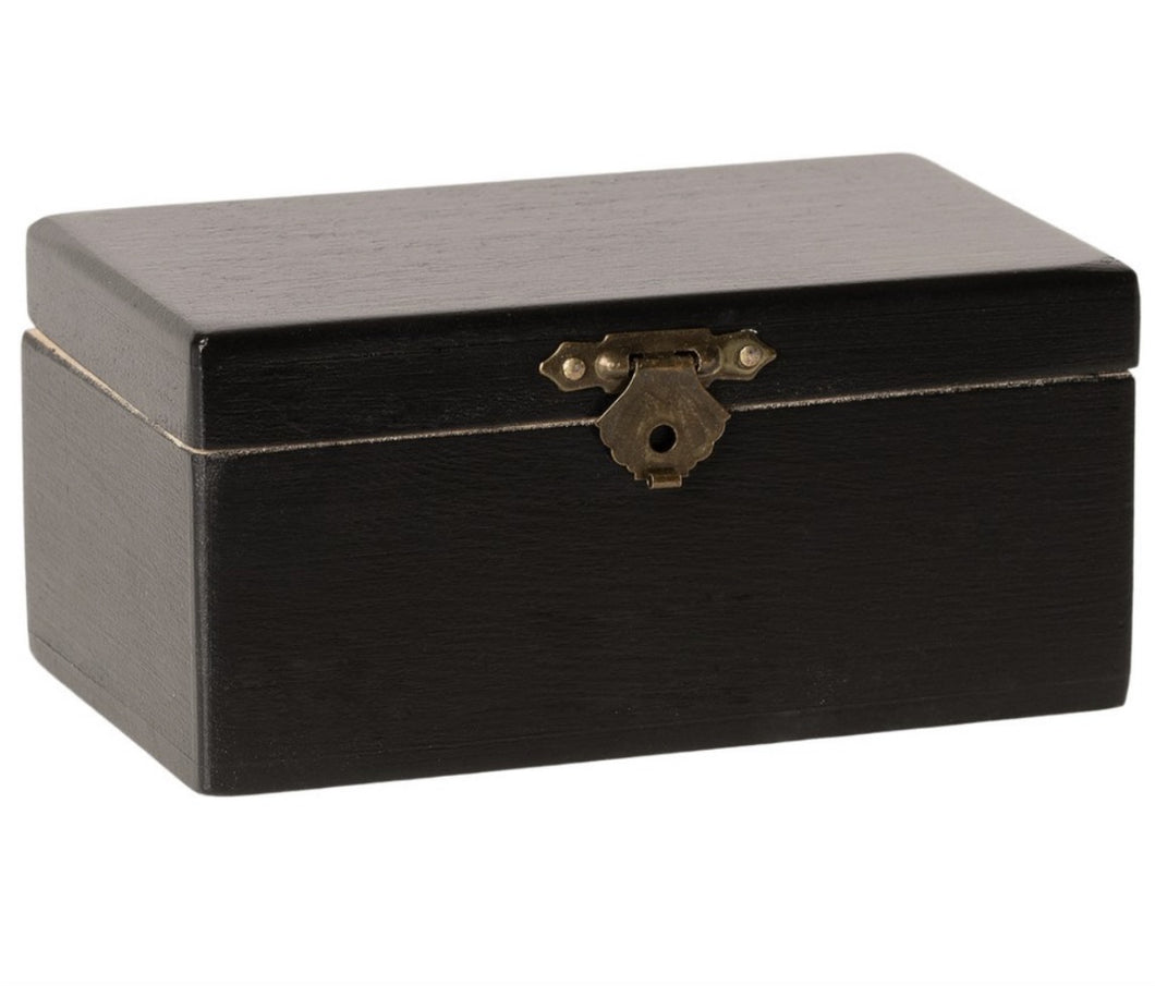 Maileg Black Chest with Floral Design