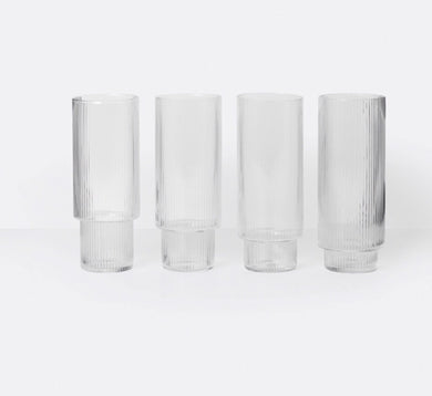Ferm Living Ripple Long Glasses