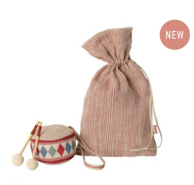 Maileg Drum in Linen Bag