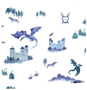 Hibou Home Castles & Dragons Wallpaper