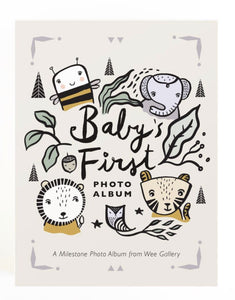 Wee Gallery Baby's First Photo Album & Milestone Cards