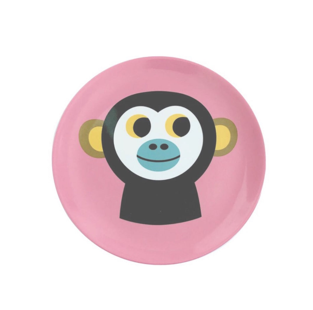 New OMM Design Melamine Monkey Plate