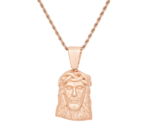 Micro Jesus Rose Gold