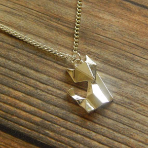 Fox origami necklace