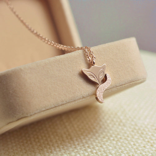 Cute Sleepy Fox Necklace