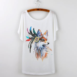 Multicolor Fox T-shirt