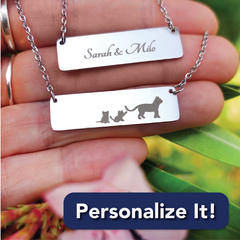 Personalize jewelry with number of babies and engraving on the back