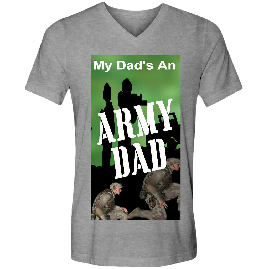 Army Dad V neck T-shirt