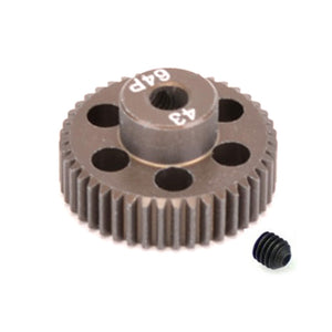 16443 - SMD 43 Tooth 64DP Pinion Gear for 1/10th and 1/12 Pan Car