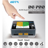 HOTA D6 Pro Charger AC-DC 2 Channel 0-15 amps with Wireless Phone Charger