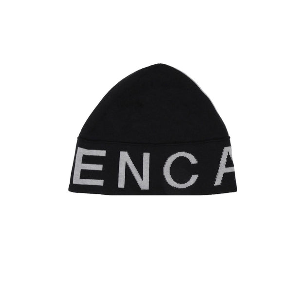 KNITTED LOGO BEANIE & SCARF SET - BLACK / GREY