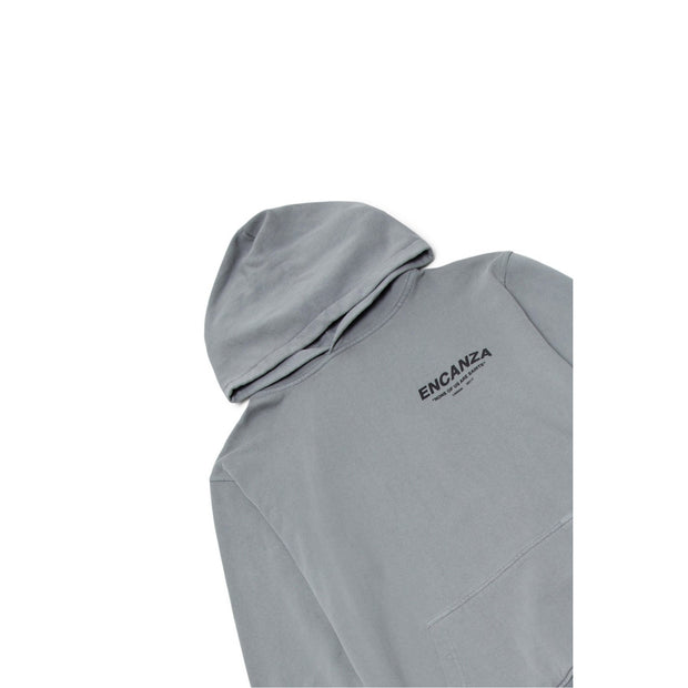 """NONE OF US ARE SAINTS"" HOODIE - COOL GREY"