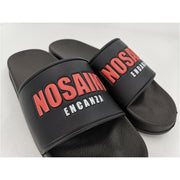 NO SAINT SLIDE - BLACK / RED