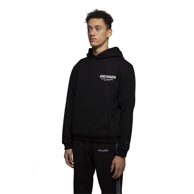 """NONE OF US ARE SAINTS"" HOODIE - BLACK"