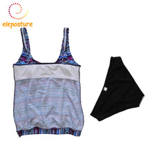 Super Women Vintage Print High Waist Swimsuits S-3XL Tankini With Shorts Bathing Suits 2pcs/Set