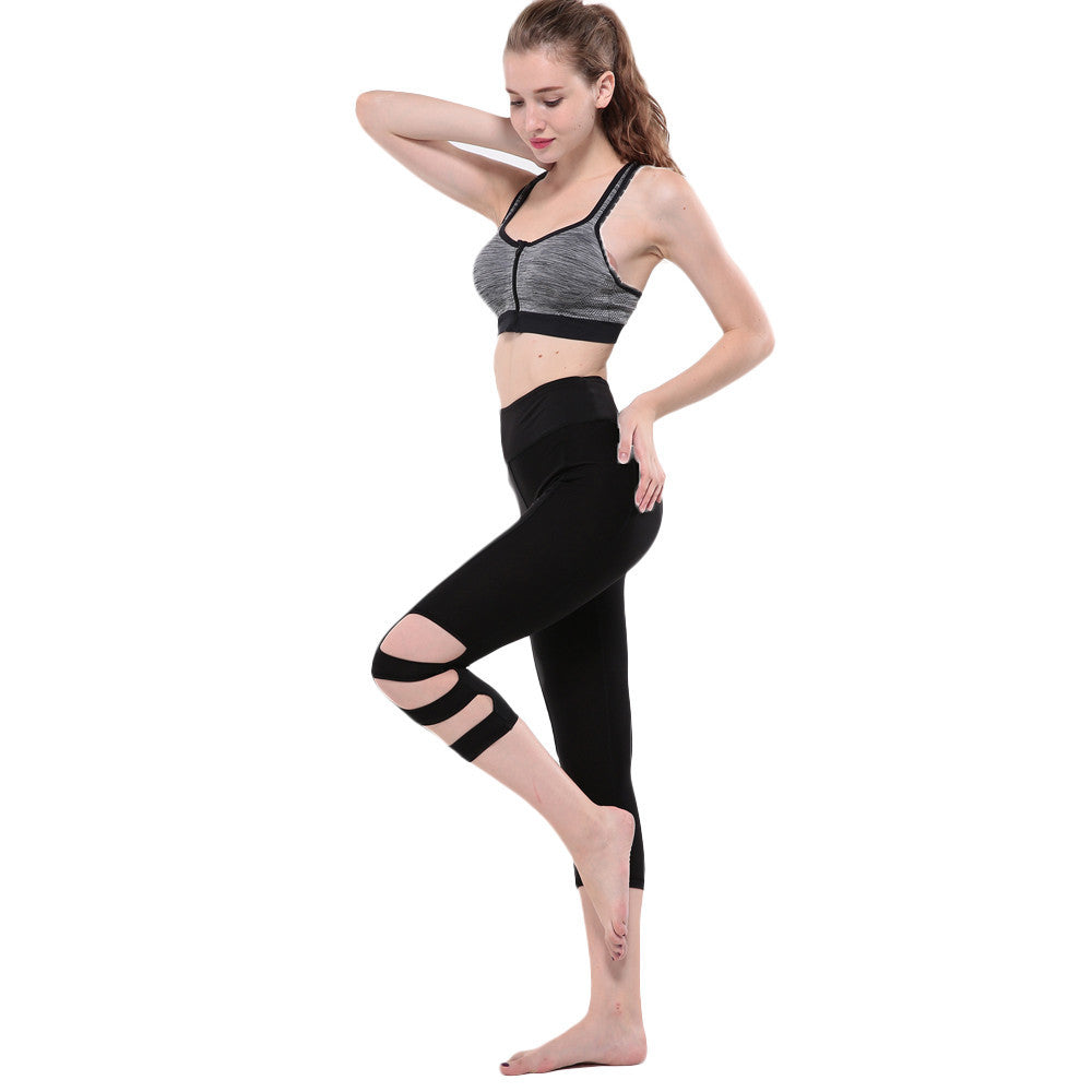 06902cbb9a8f4 ... Women Gym Yoga Workout Hollow Out Leggings Fitness Lounge Athletic Pants  #E5 ...