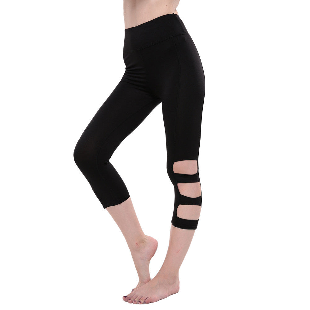 86ba7574f1189 Women Gym Yoga Workout Hollow Out Leggings Fitness Lounge Athletic Pan –  DML47