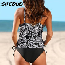 Maternity Tankini S-3XL Print Bathing Suit Women Swimwear