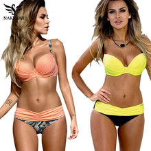 Lovely BIKINI 2 Piece Set !  Sexy Low Waist  Halter Top Push Up Swimsuit 2018 Summer  S -- XXL