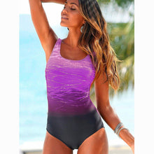 High Quality M--XXL Gradient 1 pc  Crisscross Back Swimsuit 2018 Beach Wear