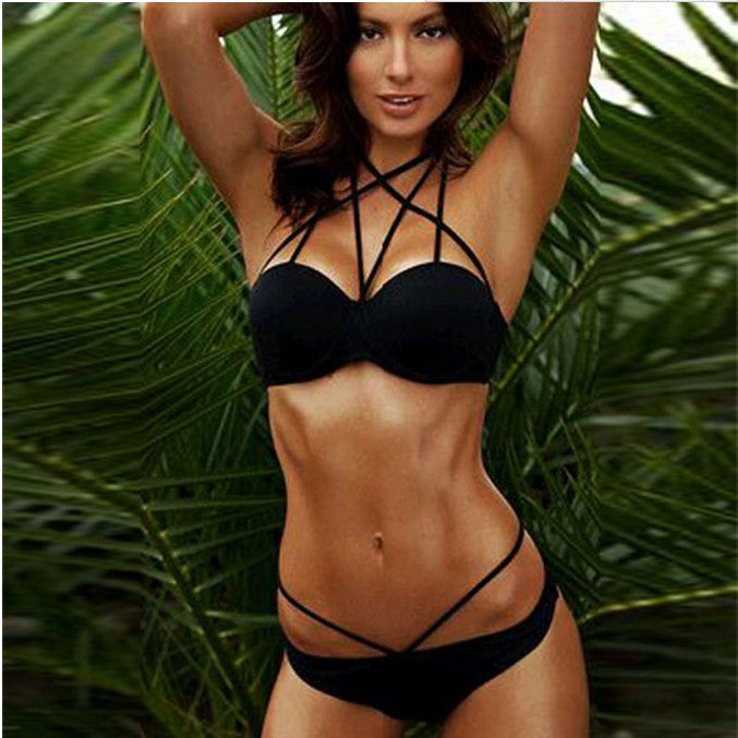 Sexy Summer Women Cleavage Bikini Swimsuit S-L