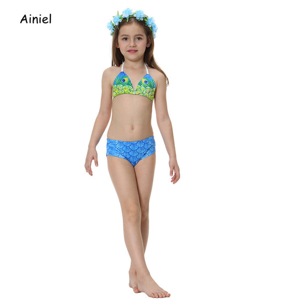 Kids Girl Swimsuit Little Mermaid Swimwear  2PC Set 2T-6T