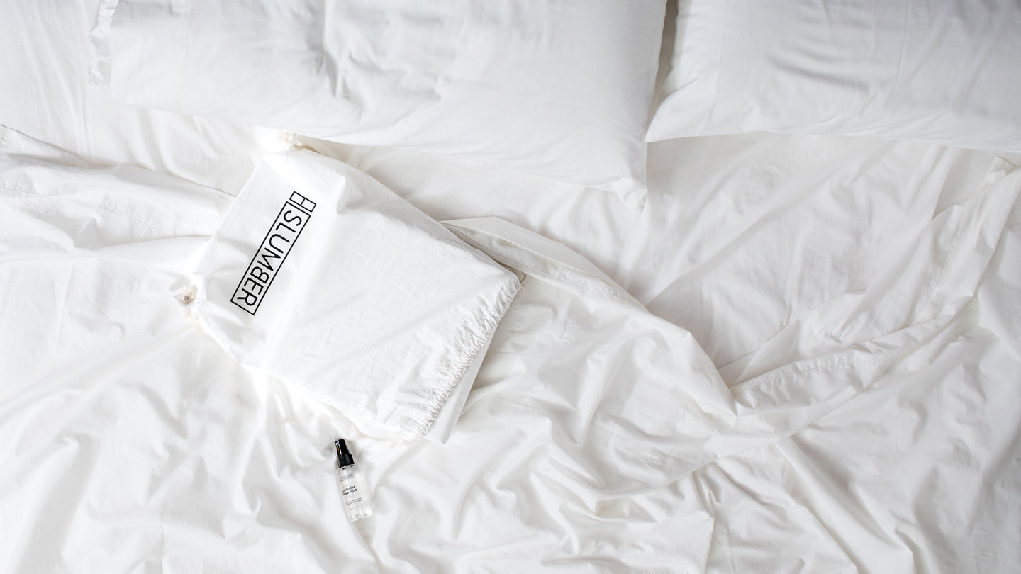 SLUMBER _Top_header(with_logo), The Most Comfortable Sheets You'll Ever Own