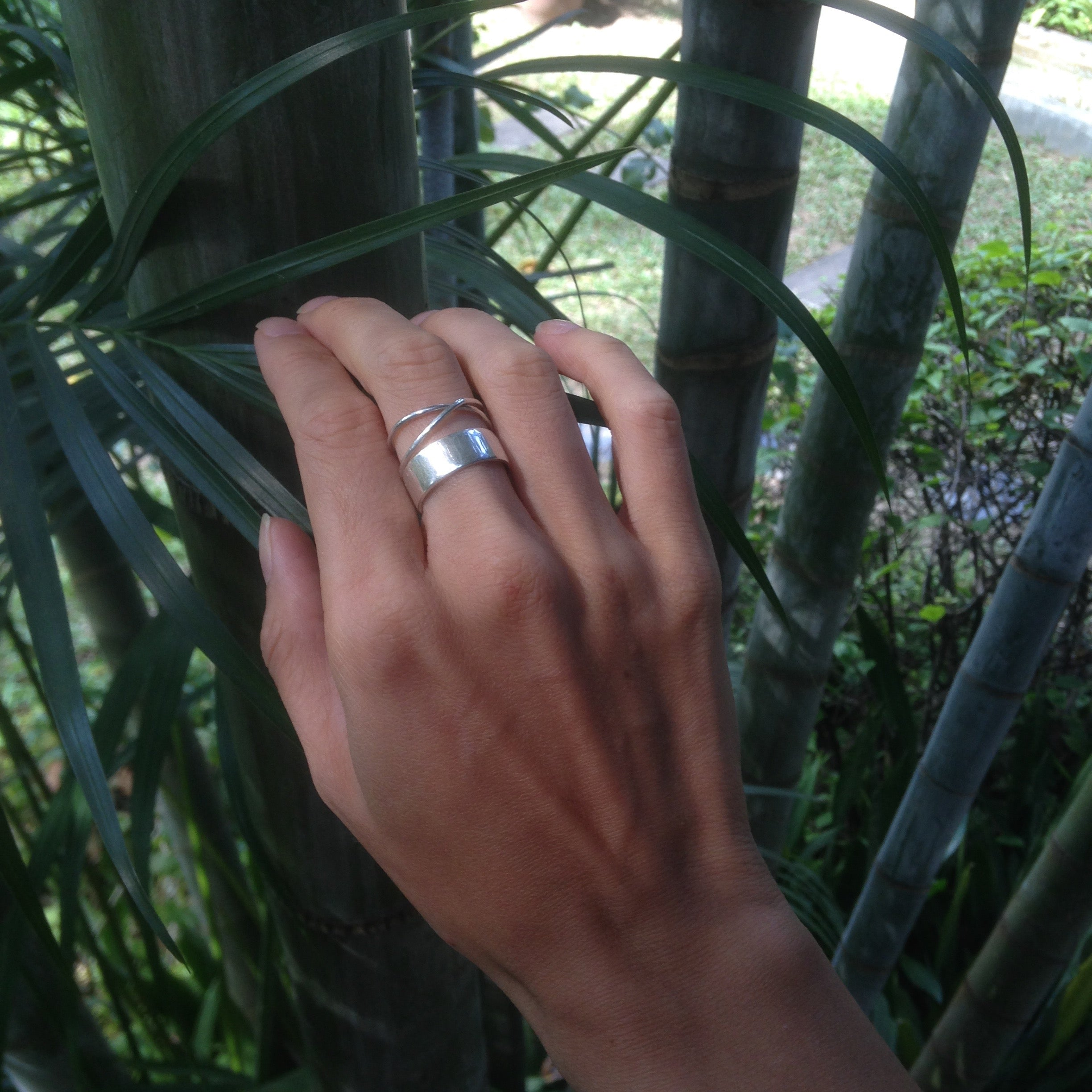 Bamboo Ring: recycled silver with subtle bamboo markings.