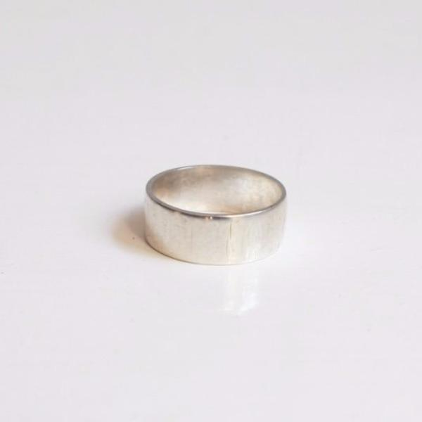 Bamboo Ring: subtly textured and made from recycled silver.