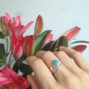 Turquoise Oval Stacking Ring