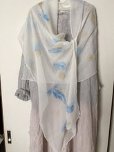 Load image into Gallery viewer, Hand Painted Silk Shawl