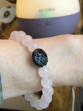 Load image into Gallery viewer, Rose Quartz diffuser bracelet. - Blue & Tansy