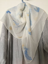 Load image into Gallery viewer, Silk scarf. - Blue & Tansy