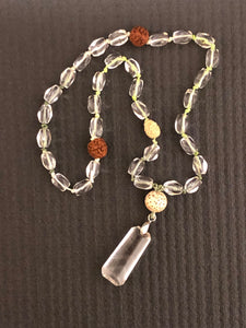 Clear Crystal Mala Beads