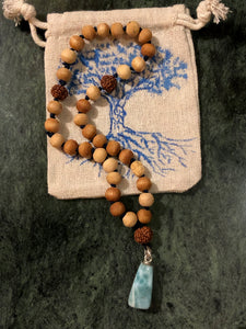 Tulsi bead Mala SOLD OUT - Blue & Tansy