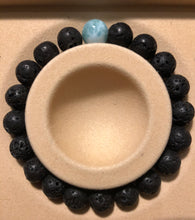 Load image into Gallery viewer, Larimar and Lava Diffuser Bracelet