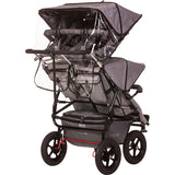 Quad Stroller by Adventure Buggy Co.  with rain cover
